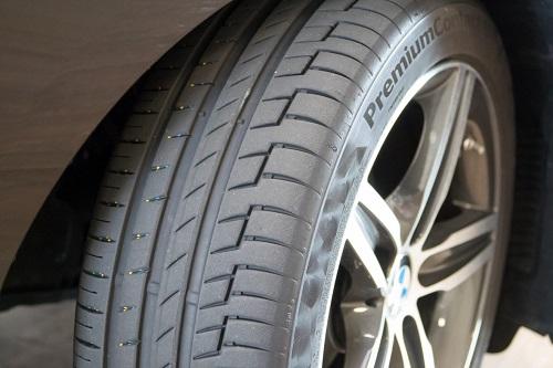 Ein neuer Reifen.